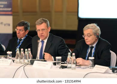 MOSCOW, RUSSIA - FEB 15: Alexei Kudrin - ex Minister of Finance of the Russian Federation at G20 Finance Ministers and Central Bank Governors Deputies Meeting on February, 15, 2013 in Moscow, Russia