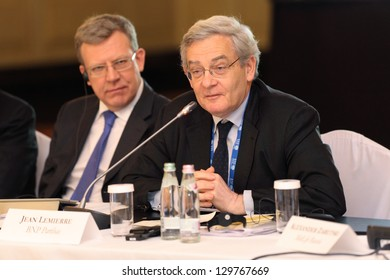 MOSCOW, RUSSIA -  FEB 15: Jean Lemierre - Advisor to the Chairman BNP Paribas at G20 Finance Ministers and Central Bank Governors Deputies Meeting on February, 15, 2013 in Moscow, Russia