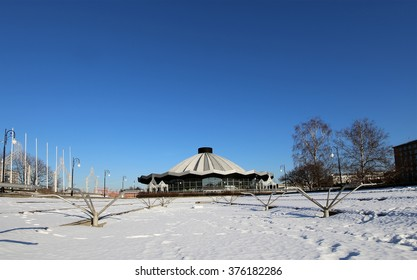 MOSCOW, RUSSIA- FEBRUARY 08, 2016: Big Moscow Circus on Vernadskogo Prospekt, Russia