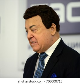 MOSCOW, RUSSIA - FEBRUARY 17, 2017: Iosif Kobzon, Soviet and Russian pop singer (baritone), musical and public figure, teacher. Russian state Duma Deputy II-VI convocations.