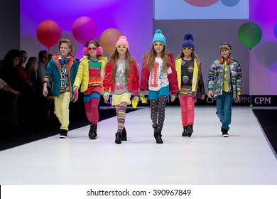 5f0bdcba7 MOSCOW, RUSSIA - FEBRUARY 24: INTERNATIONAL FASHION TRADE SHOW, Designers  present their collections