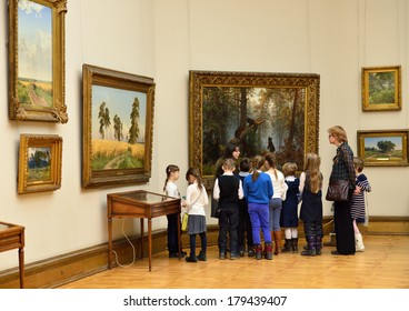 MOSCOW, RUSSIA - FEBRUARY 28, 2014: State Tretyakov Gallery is an art gallery in Moscow, Russia, and is the foremost depository of Russian fine art in world. Gallery's history starts in 1856.