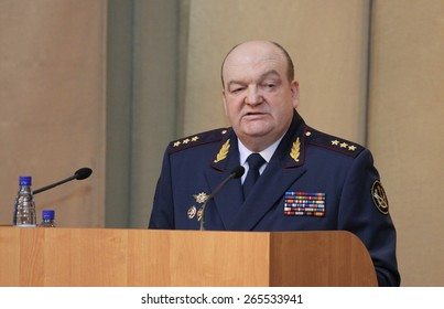 MOSCOW, RUSSIA - FEBRUARY 9, 2012: Alexander Reimer - the General-Colonel of internal service. The Director of the Federal service of execution of punishments (2009-2012). In 2015 remanded in custody.