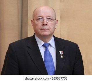 MOSCOW, RUSSIA - FEBRUARY 9, 2012: Hero Of Russia, Alexander Chekalin. First Deputy Chairman of the Committee of the Federation Council of the Federal Assembly of the Russian  on defence and security.