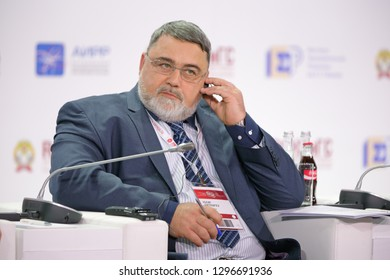 MOSCOW, RUSSIA - JAN 13, 2017: Igor Yurievich Artemiev is a Russian politician and government official, Head of the Federal Antimonopoly Service of Russia (FAS) at the Gaidar Forum 2017