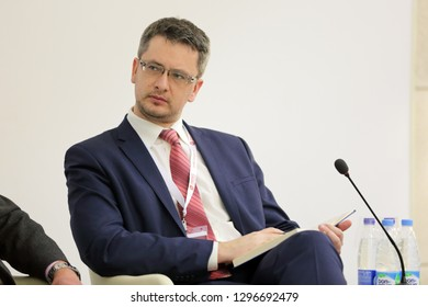 MOSCOW, RUSSIA - JAN 13, 2017: Dmitry Alexandrovich Voloshin - Director of Corporate networking Academy GK Rostec at the Gaidar Forum 2017