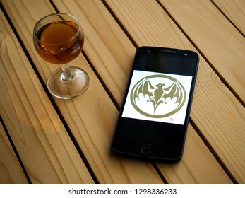 MOSCOW, RUSSIA - JANUARY 02, 2019: Bacardi rum logo on smartphone screen. Bacardi Limited is the largest privately held, family-owned spirits company in the world.
