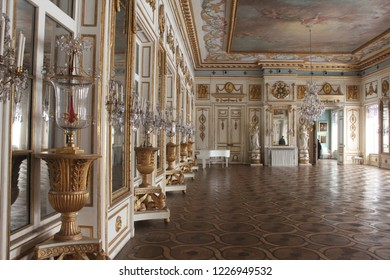 MOSCOW / RUSSIA - JANUARY 08 2017: The interior of manor house of the Kuskovo estate in Moscow