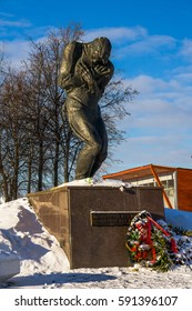 Moscow, Russia - January 22, 2017: Monument missing soldiers in the park Victory in Moscow