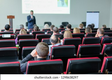 Moscow, Russia - January, 22, 2019: image of the Conference