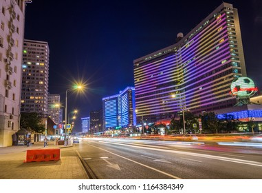 Moscow, Russia - Jul 21, 2017: New Arbat district