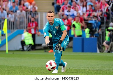 Moscow, Russia, Jule, 1, 2018. Luzhniki stadium. Igor Akinfeev in the football match of FIFA World Cup 2018 between Spain & Russia.