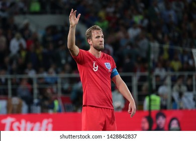 Moscow, Russia, Jule, 3, 2018. Spartak stadium. Harry Kane in the football match of FIFA World Cup 2018 between Colombia & England.