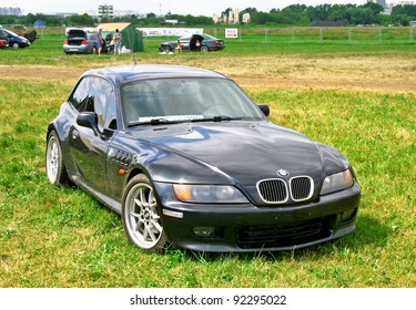"""MOSCOW, RUSSIA - JULY 10: German vehicle BMW Z3 exhibited at the annual International Motor show """"Autoexotica"""" on July 10, 2011 in Moscow, Russia."""