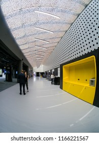 MOSCOW, RUSSIA - JULY 16, 2018: Interior of new Center For Digital Leadership of SAP company in Moscow on July 16, 2018.