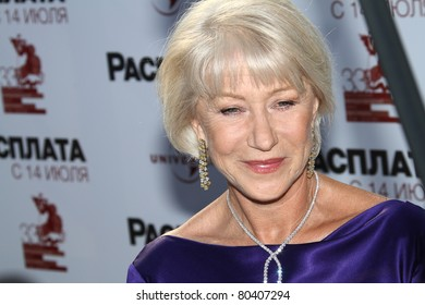 MOSCOW, RUSSIA - JULY 2: Dame Helen Mirren arrives at the closing ceremony of the Moscow International film festival on July 2, 2011 in Moscow, Russia.