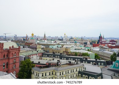 Moscow, RUSSIA - July 2016: View of the rooftops of Moscow Old Town