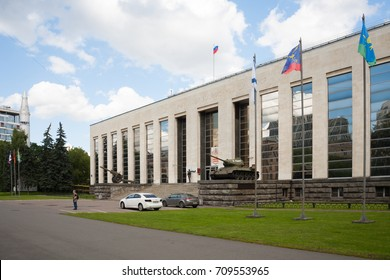 MOSCOW, RUSSIA - JULY 21, 2017: Central Armed Forces Museum in Soviet Army Street on summer day.The museum was opened on May 25, 1916.