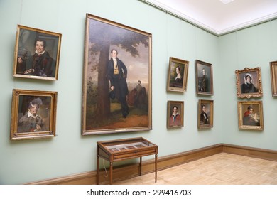 MOSCOW, RUSSIA - JULY, 23 2015: The State Tretyakov Gallery is an art gallery in Moscow, Russia, the foremost depository of Russian fine art in the world. Gallery's history starts in 1856.