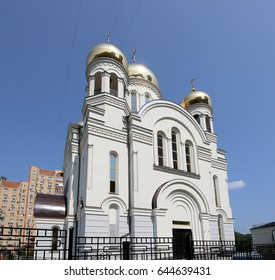 MOSCOW, RUSSIA- JULY 30, 2016:Modern Orthodox church in Moscow, Russia