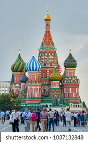 Moscow, Russia - July 5, 2005: St. Basil's Cathedral on Red Square