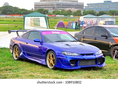 MOSCOW, RUSSIA - JULY 6: Japanese sports car Nissan Silvia exhibited at the annual International Motor show Autoexotica on July 6, 2012 in Moscow, Russia.