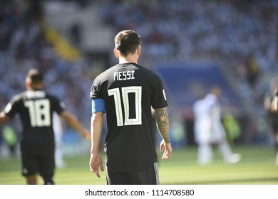 MOSCOW, RUSSIA - June 16, 2018:  Argentina and Iceland at Spartak Stadium.