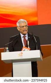 MOSCOW, RUSSIA, JUNE, 16: Abdalla Salem El-Badri, Secretary General of OPEC. 21st World Petroleum Congress, June, 16, 2014 at Crocus Expo  in Moscow, Russia