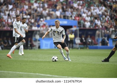 MOSCOW, RUSSIA - June 17 ,2018 World Cup  between Germany  and Mexico  at Luzhniki Stadium.