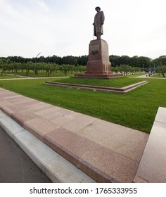 Moscow, Russia, June 17, 2020: The Monument Of Ivan Vladimirovich Michurin. Michurin was a Russian practitioner of selection to produce new types of crop plants.