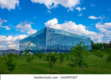 MOSCOW, RUSSIA - JUNE 2, 2019: Moskvarium Oceanography and marine biology Centre at VDNH