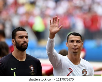 MOSCOW, RUSSIA - June 20, 2018: World Cup Group B game between Portugal and Morocco at Luzhniki Stadium.