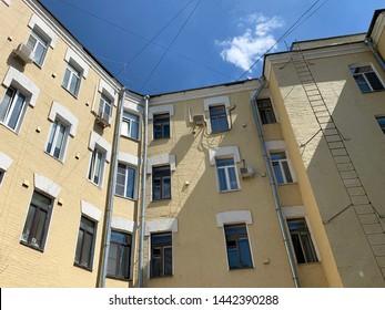 Moscow, Russia, June. 20, 2019. Moscow, Kazarmenny pereulok, apartment house N.G. Tarkhova and G. I. Makaev,  architect G. I. Makaev, 1903-1904 years built