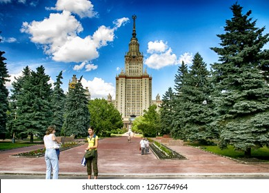 Moscow, Russia, June 2015 - University of Moscow, Lomonisov State university iconic building