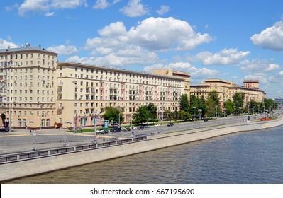 MOSCOW, RUSSIA - JUNE, 2017: Frunzenskaya Embankment