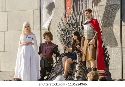 """MOSCOW RUSSIA JUNE 2018:festival dedicated to the new season series of """"Game of thrones"""""""