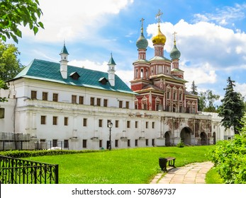 MOSCOW, RUSSIA - JUNE 25, 2016: Church of the Protection of the Theotokos and Maria's chambers, Novodevichy Convent or New Maidens' Monastery