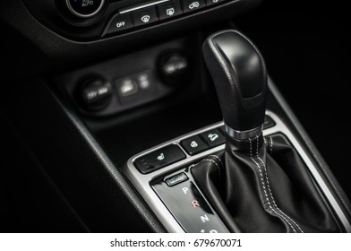 MOSCOW, RUSSIA - JUNE 25, 2017 Hyundai Creta / Hyundai ix25, interior view. Test of new Hyundai Creta / Hyundai ix25. This car is 4WD compact crossover SUV. 2.0