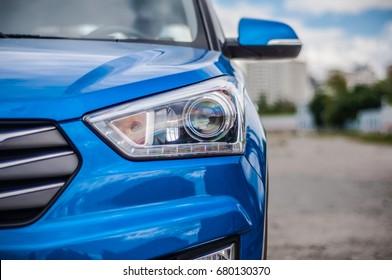 MOSCOW, RUSSIA - JUNE 25, 2017 Hyundai Creta / Hyundai ix25, front-side view. Test of new Hyundai Creta / Hyundai ix25. This car is 4WD compact crossover SUV. 2.0