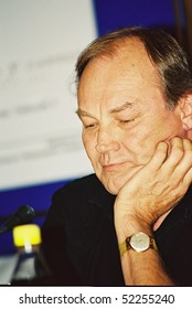 MOSCOW, RUSSIA - JUNE 26: Klaus Maria Brandauer attends the press conference at the 24th annual Moscow International Film Festival June 26, 2002 in Moscow, Russia.