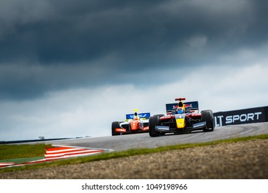 Moscow, Russia - June 28, 2014: Carlos Sainz Jr. driver of DAMS at World Series by Renault stage at Moscow Raceway
