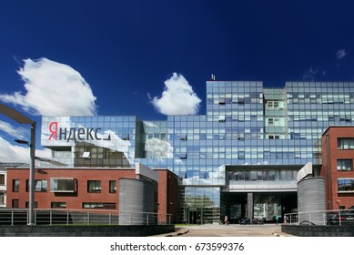 Moscow, Russia - June 28, 2017: Headquarter of Yandex company at day time. Yandex is a Russian Internet company which operates the largest search engine in Russia.