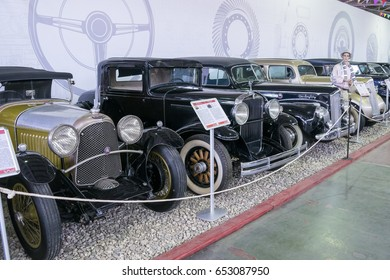 MOSCOW, RUSSIA - JUNE 3, 2017: Moscow museum of retro cars.