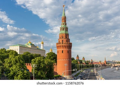 MOSCOW, RUSSIA - JUNE 3, 2018: View of the Moscow Kremlin