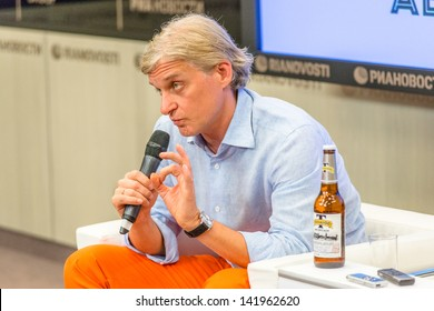 MOSCOW, RUSSIA - JUNE, 5: Oleg Tinkov's press-conference about his love and passion - new Tinkoff beer. Moscow, June 5, 2013