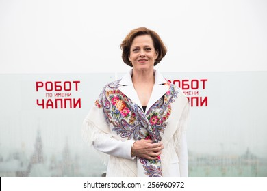 """MOSCOW, RUSSIA, MARCH, 01: Actress Sigourney Weaver. Photo-call of the movie """"Chappie"""", March, 01, 2015 at RITZ HOTEL in Moscow, Russia"""
