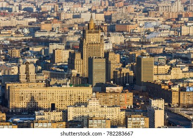 MOSCOW, RUSSIA - MARCH 11, 2013: The View of The Ministry of Foreign Affairs of the Russian Federation