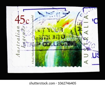 MOSCOW, RUSSIA - MARCH 18, 2018: A stamp printed in Australia shows Australian Legends - A. Boyd Painting, serie, circa 1999