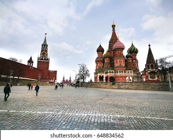 Moscow russia - March 19 ,2017 : Red Square is often considered the central square of Moscow, Russia