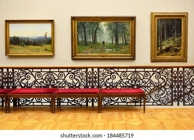 MOSCOW, RUSSIA - MARCH 27,2014:State Tretyakov Gallery is art gallery in Moscow, Russia,foremost depository of Russian fine art in world. Gallery's history starts in 1856.Collection - 130,000 exhibits